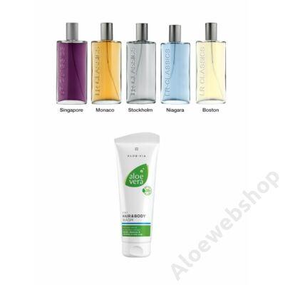 Aloe Vera 2 az 1ben sampon és tusfürdő és LR Classics parfüm